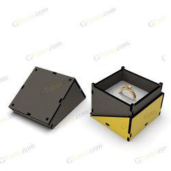طرح لیزر جعبه انگشتر