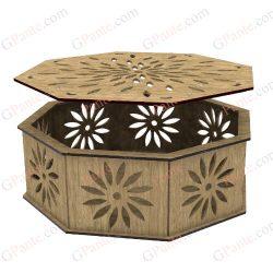 طرح لیزر باکس محصول هشت ضلعی