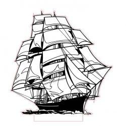 وکتور بالبینگ سه بعدی کشتی
