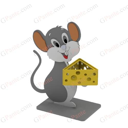 تندیس موش و پنیر