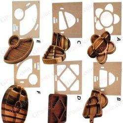طرح شابلون ظرف چوبی جهت تولید با فرز دستی
