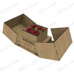 باکس گل و جعبه گهدیه اماده برش لیزری