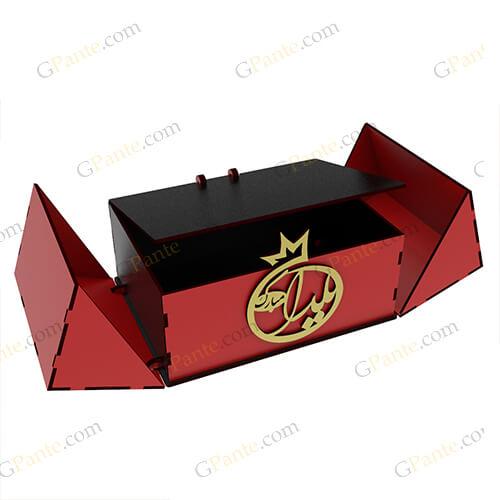 دانلود طرح لیزری باکس هدیه وی