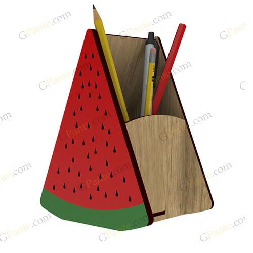 طرح برش لیزری جامدادی هندوانه ای از محصولات یلدایی