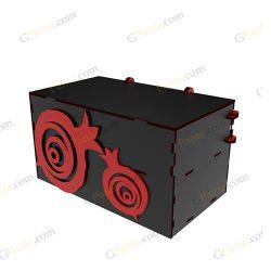دانلود فایل برش لیزری باکس هدیه ترن