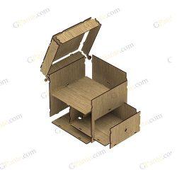 طرح برش لیزری باکس گل و هدیه استار