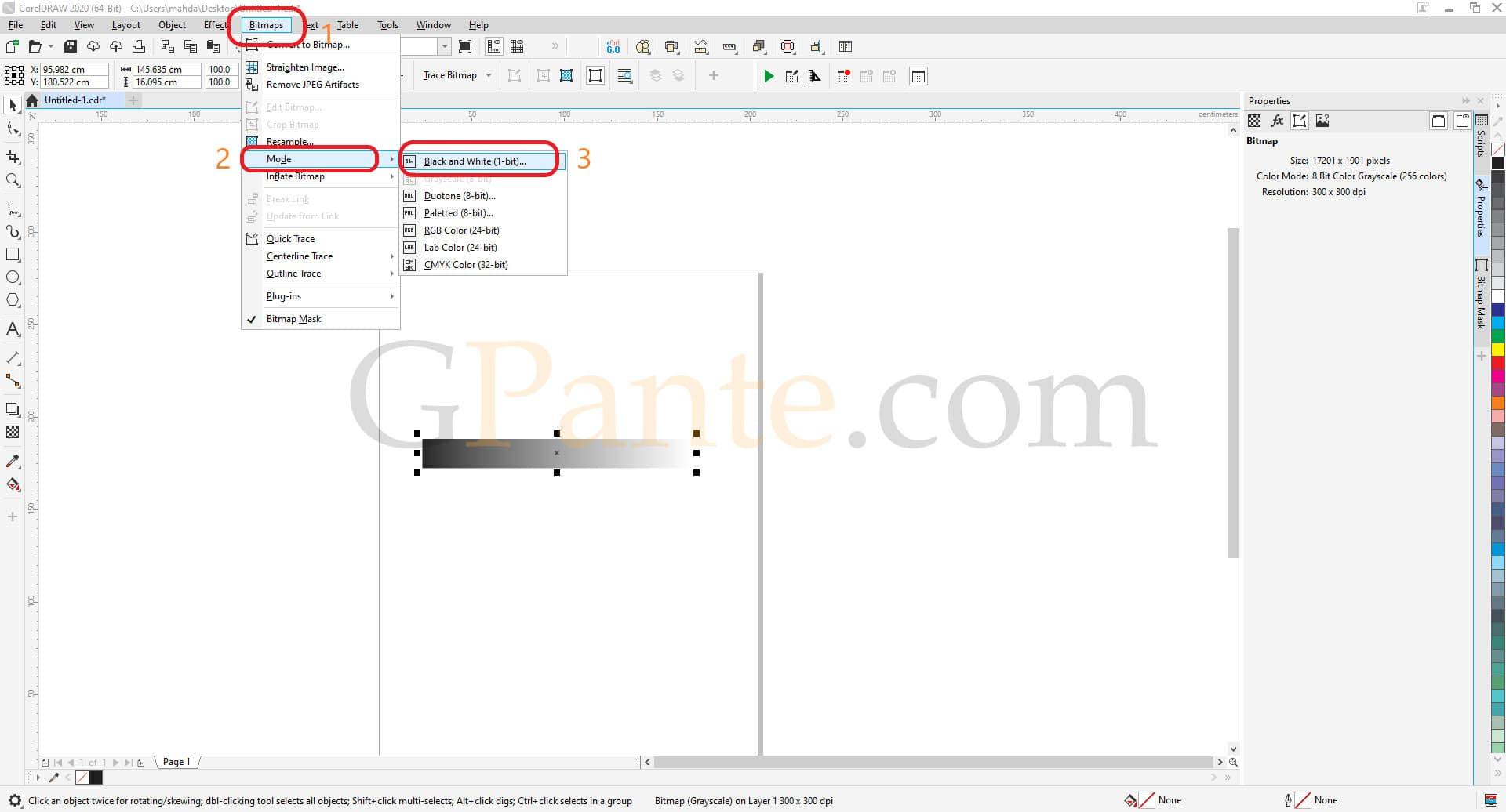 تبدیل فایل گردینت برای تست تنظیمات حکاکی