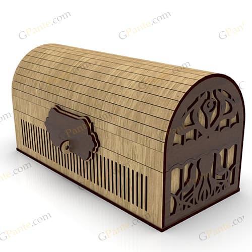 فایل برش لیزر صندوقچه ای راز